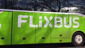 FlixBus bus stock video footage