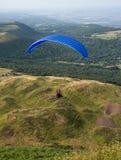 Fliying über den Vulkanen in Auvergne Stockfotografie