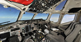 Fliying empty cockpit Royalty Free Stock Images