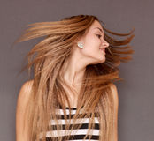 Fliying hair Stock Images