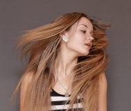 Fliying hairs stock image