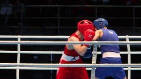 Följd för boxningmatch nästan lager videofilmer