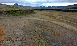 Fljotshlid in South Iceland. This is Trollagja.