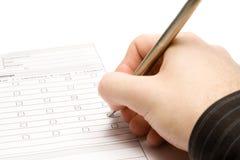 Füllen Sie das Formular aus Lizenzfreie Stockbilder