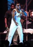 Flo Rida presteert in y-100 Jingle Ball royalty-vrije stock afbeelding