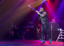 Flo Rida on Stage at Credit Union Place Stock Photography