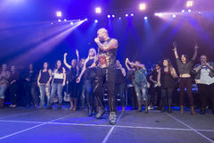 Flo Rida on Stage at Credit Union Place Royalty Free Stock Image