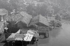 Floading i Jakarta Arkivbilder