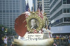 Float in American Bicentennial Parade, Philadelphia, Pennsylvania Stock Image