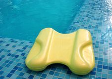 Float board in pool Royalty Free Stock Photography