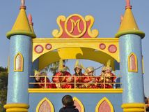 Float of the cavalcade of Magi Stock Image