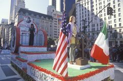 Float of Columbus, Columbus Day Parade, New York City, New York Stock Images