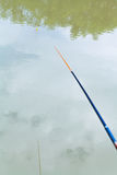 Float floating in the calm river while fishing Royalty Free Stock Photo