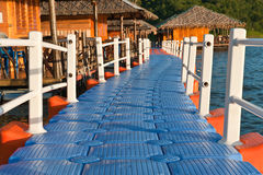 Float footpath to houseboat Royalty Free Stock Photography