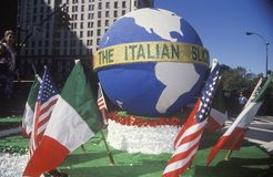 Float with Globe, Columbus Day Parade, New York City, New York Stock Images
