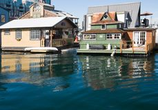 Float homes or marina village Stock Photography