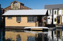 Float homes or marina village Stock Photos