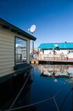 Float homes or marina village Royalty Free Stock Photos