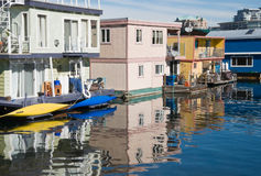 Float homes or marina village Stock Image