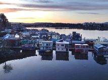 Float homes in Victoria Royalty Free Stock Photos