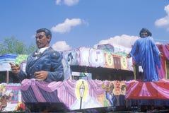 Float in Mardi Gras Parade, New Orleans, Louisiana Royalty Free Stock Photography
