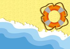 Float orange and white Royalty Free Stock Image