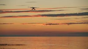 Float Plane at Dusk, Georgia Strait Stock Images
