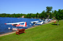Float plane flyin gathering Royalty Free Stock Photos