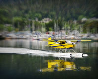 Float Plane Landing, Alaska Royalty Free Stock Image