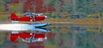 Float plane on loch lubnaig scotland Stock Photos