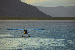 Float Plane Moored in Cairns Great Barrier Reef Stock Image