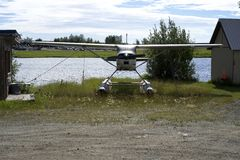 Float Plane Out Of The Water Stock Images