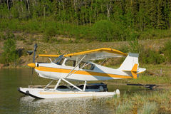 A float plane on a small lake in northern british columbia Royalty Free Stock Image