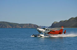 Float Plane taking off Royalty Free Stock Photo