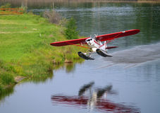 Float Plane Taking Off Royalty Free Stock Photography