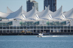 Float Plane taking off in Vancouver, Canada Stock Photo