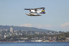Float Plane taking off in Vancouver, Canada Stock Image