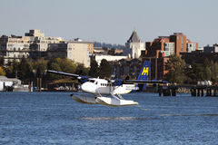 Float Plane taking off in Vancouver, Canada Stock Photography