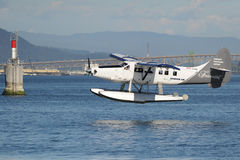 Float Plane taking off in Vancouver, Canada Royalty Free Stock Images