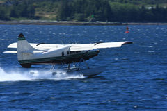 Float plane in water in Alaska Stock Image