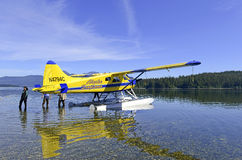 Float plane in the wilderness, Alaska Stock Photos