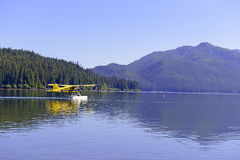 Float plane in the wilderness, Alaska Stock Image