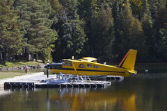 Float planes on the lake Stock Image