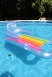 Float in the pool. Inflatable float in the pool Royalty Free Stock Images