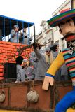 Float and prisoners (carnival) Stock Images