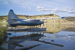 Float seaplane on river Stock Photos