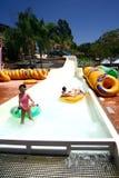 Float slide fun. Royalty Free Stock Image