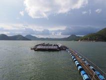 Float solar farm Stock Photos