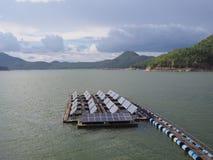 Float solar farm Stock Photo
