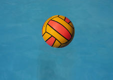 Floated water polo ball Stock Images